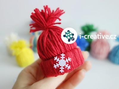 Návod jak vyrobit mini dekorační čepičky