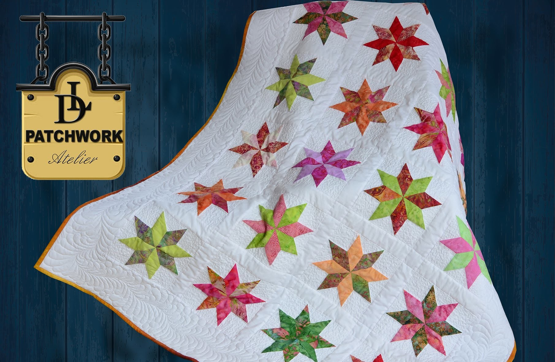 Patchwork Quilt Bali Pops - Rapid Fire - Lemoyne Star