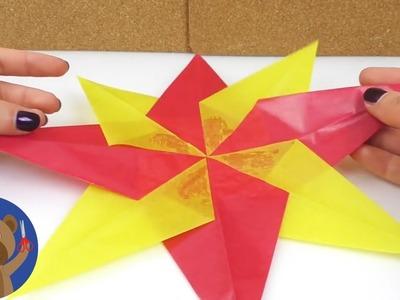 DIY Adventní hvězda - jak si udělat hezkou dekoraci na Vánoce