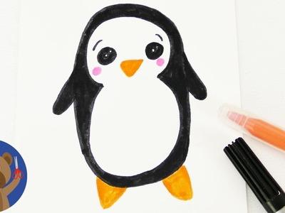 DIY KAWAII TUČŇÁK - roztomilý zimní motiv na dárky nebo k narozeninám