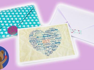 DIY Vánoce - balení dárků do obálky - hezký nápad na zabalení
