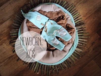Jak vyrobit newborn koš. diy newborn prop, newborn basket