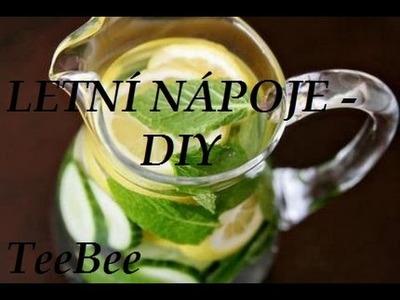 Letní nápoje - DIY (Mochito, Ledová káva, Detoxové vody)