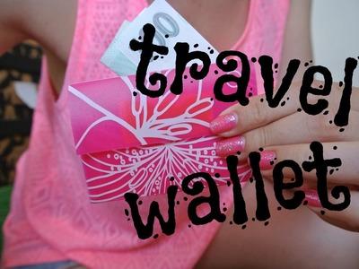 Penězenka z kartonu od mléka či kancelářských desek. DIY cestovní peněženka