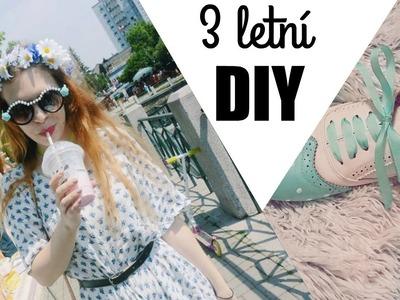 3 barevné letní DIY | Tereza Schneeberg