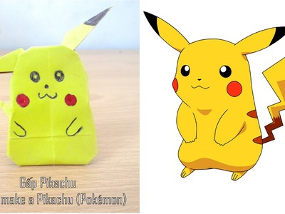 Easy Origami Tutorial - How to make Pikachu (Pokémon) ( Origami Paper Pikachu )