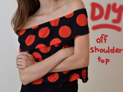 DIY | off shoulder top | top s odhalenými rameny