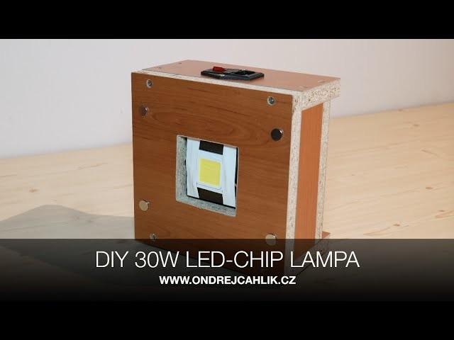 DIY 30W LED-CHIP WIRELESS LAMPIČKA