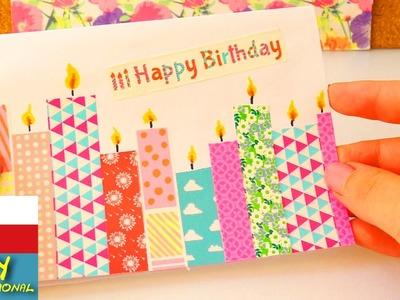 Washitape narozeninové přání - DIY přání se svíčkami