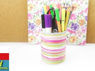 DIY Kelímek na tužky - skvělý letní stojánek na tužky - kreativní papír