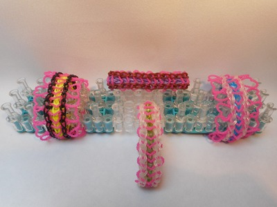 Rainbow Loom Bracelet- Srdce s krajkou- (Original Design)