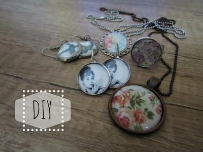☮ DIY: Šperky s použitím epoxy čočky. Jewels with epoxy lens