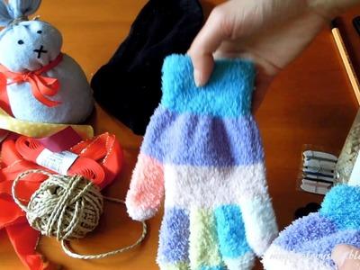 DIY pro děti: Velikonoční zajíček z ponožky a rukavice
