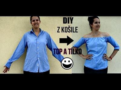 DIY Návod : Tílko a top za pár kaček ze starých košil!