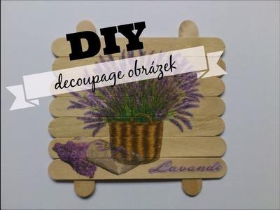 DIY decoupage obrázek.DIY decoupage picture