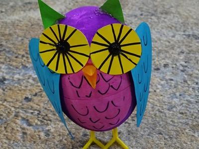 Jak na to: 46# Sova ve veselých barvách DIY
