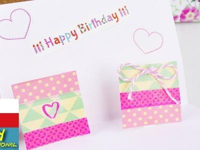 Pop-up narozeninové přání s dárečky