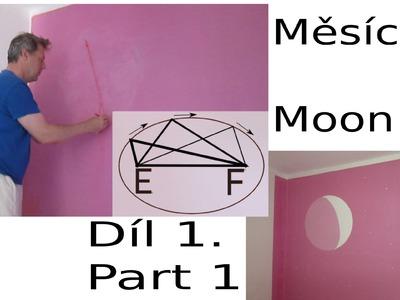 DIY - painting moon on the wall, malovat měsíc na zeď -1-