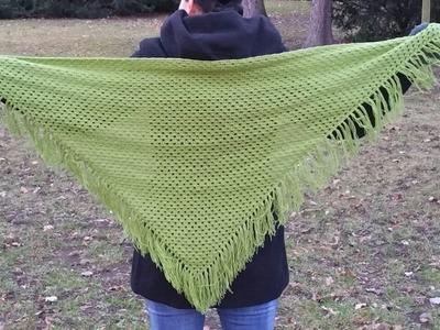 Háčkovaný šátek - velmi jednoduché