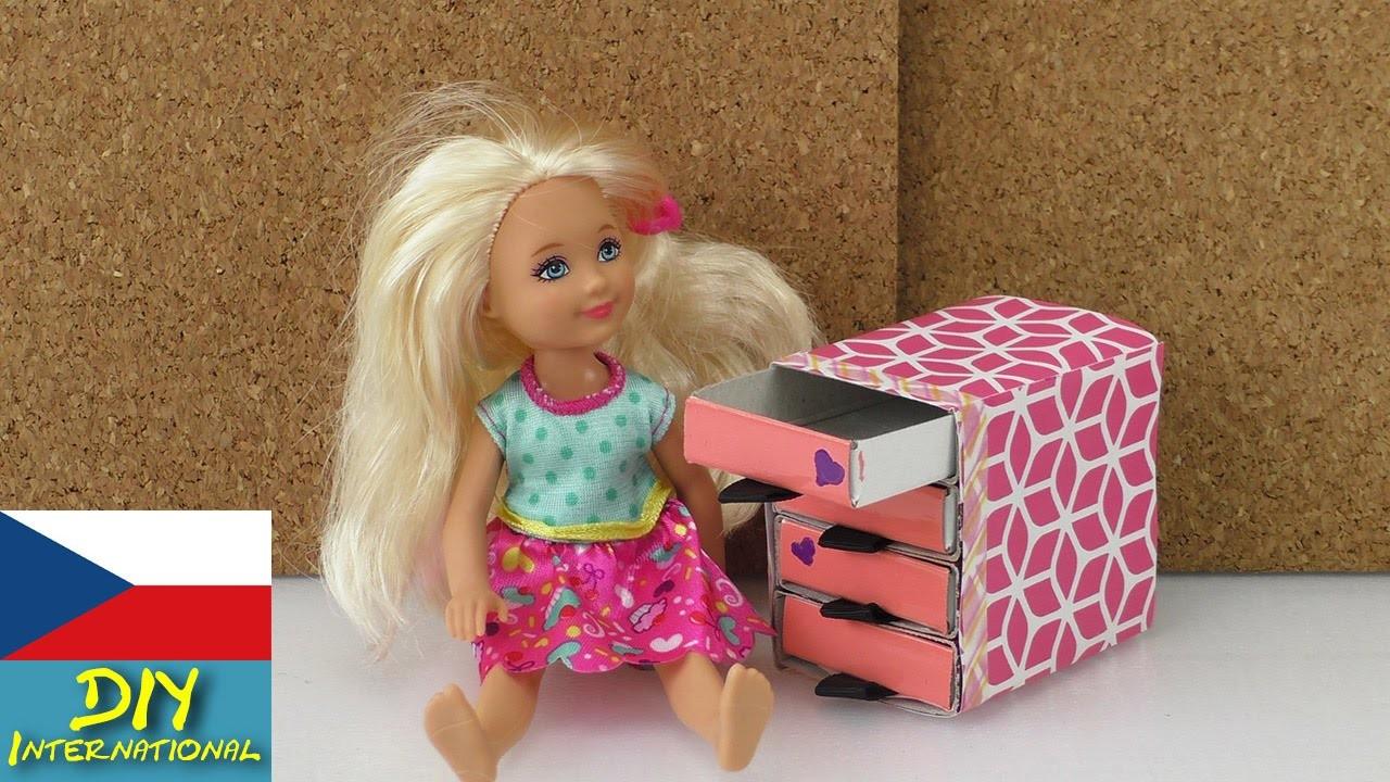 Nábytek pro panenky - Komoda pro Barbie