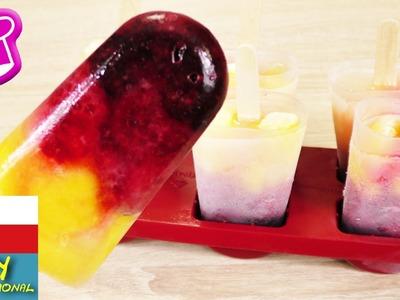 Barevná ovocná zmrzlina - maliny, mango, ostružiny