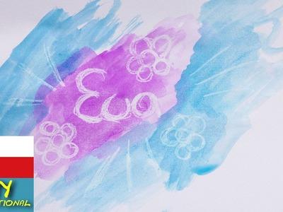 Obrázek z vosku a vodových barev