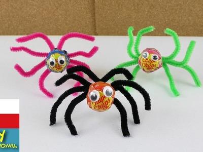 Pavouci z lízátek - dekorace nebo nápad na dárek pro děti