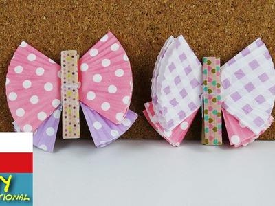 Motýlci z košíčků na muffiny - barevní motýli