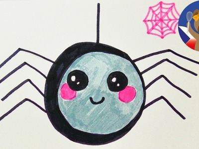 KAWAII DIY pavouček pro štěstí - jak si namalujete roztomilého pavouka