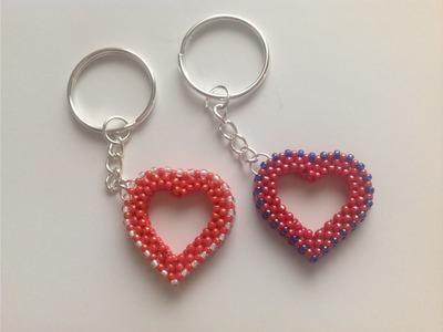 Návod na korálkové srdce - čtyřkorálek. Tutorial beading heart Raw 3D