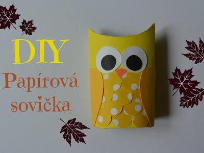 DIY papírová sovička. DIY paper owl