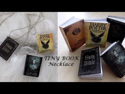 DIY: Tiny book necklace.Řetízek s knížečkou