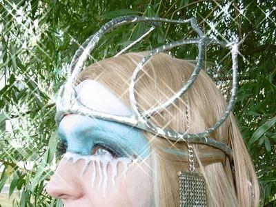 Koruna zimní královny - DIY podrobný návod