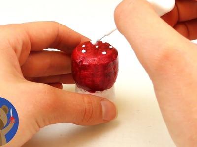DIY korek- jednoduchá ozdoba na vánoční stromeček - muchomůrka