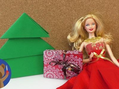 Vánoční stromeček pro Barbie - DIY Vánoce pro panenky a dekorace