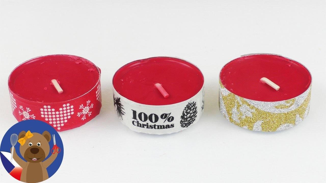 DIY svíčka na Vánoce - hezká dekorace k Adventu