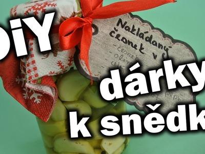 Nakládaný česnek v oleji. Tipy na vánoční dárky. DiY dárky k snědku