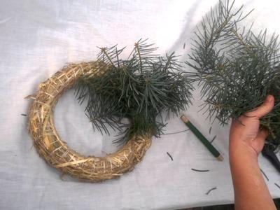 Výroba adventního  věnce z jedlového chvojí 1 část , Production Advent wreaths a natural material