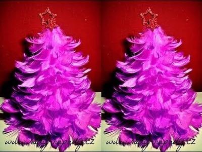 Stromeček z peříček (Christmas tree of feathers) - DiY