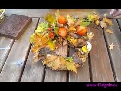 Návod na přírodní podzimní věnec - dekorace