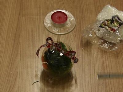 3 tipy, jak využít skleničku na víno pro vánoční dekoraci - DIY