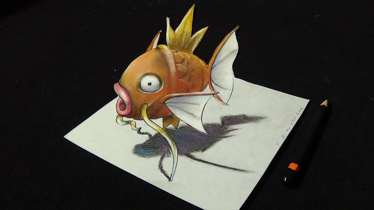 Artistic Draw 3D,  Magikarp Fish