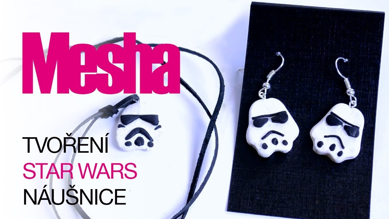 Star Wars náušnice | Stormtrooper | DIY