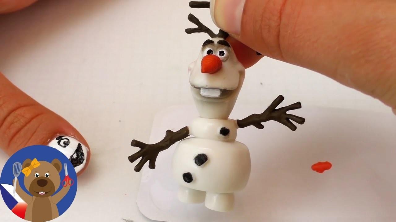 Design nehtů Olaf z Ledového království