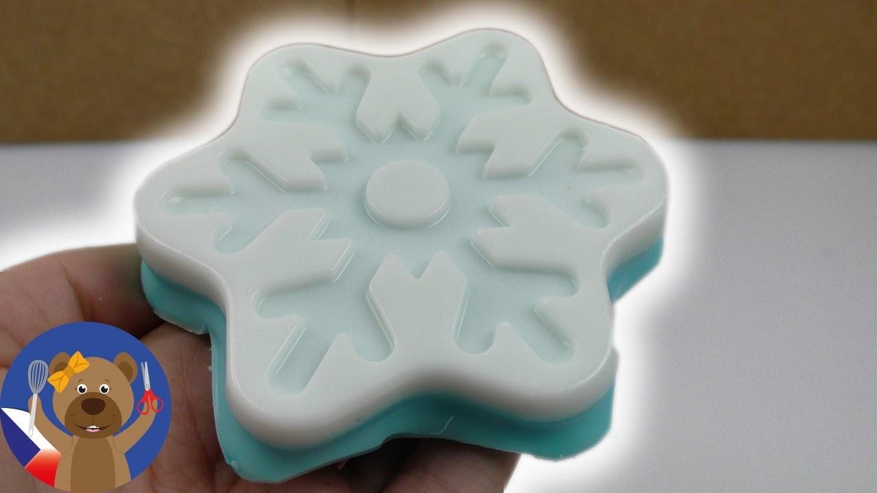 DIY skvělé mýdlo v podobě Ledového království - dárek - jak si sami uděláte mýdlo