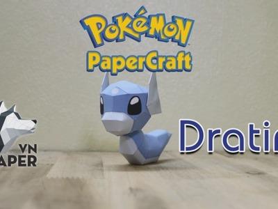 Pokemon Papercraft Tutorial - Dratini Papercraft - Paper VN
