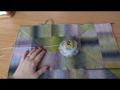 Jak připlétat modulové díly, škola pletení Katrincola yarn, Knitting moduls