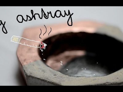 DIY | Betonový popelník | Concrete Ashtray