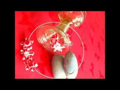 Hand made necklace.necklace.kanzashi necklace.fabric jevellery.náhrdelník snadno a rychle