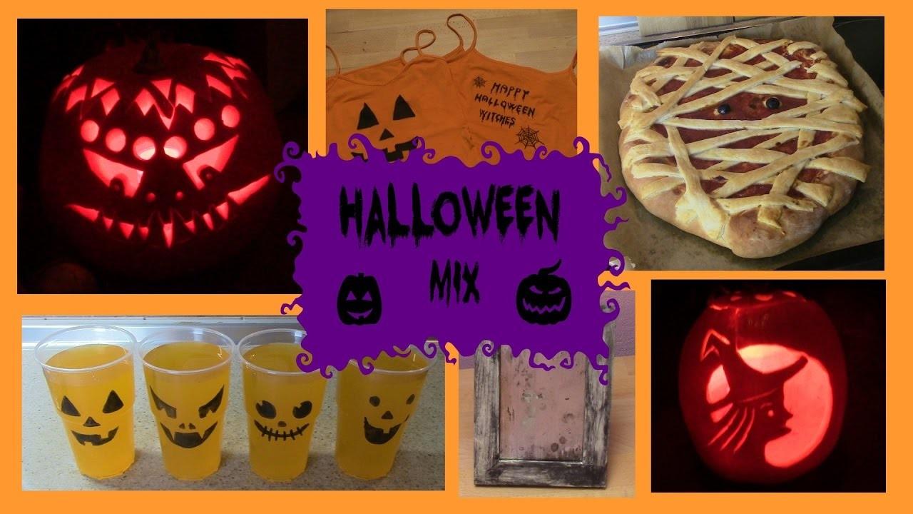 Halloween mix (občerstvení, dýně, diy) 2016